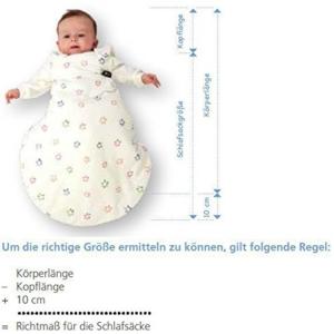 ganzjahres Schlafsack Baby Größe