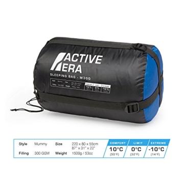 Professional 300 Mumien-Schlafsack für 3-4Saisons für Camping, Wandern, Aktivitäten im Freien - 6