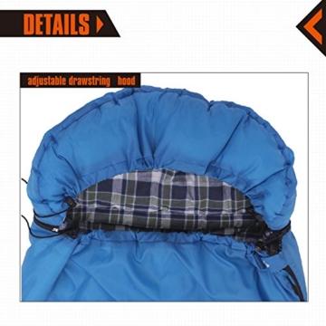 220 /× 75 cm KingCamp Oasis Serie Deckenschlafs/äcke mit Kopfteil