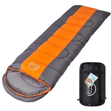 LATTCURE Outdoor Camping Deckenschlafsack Winter, Weich, Dick und Warm (Orange) - 1