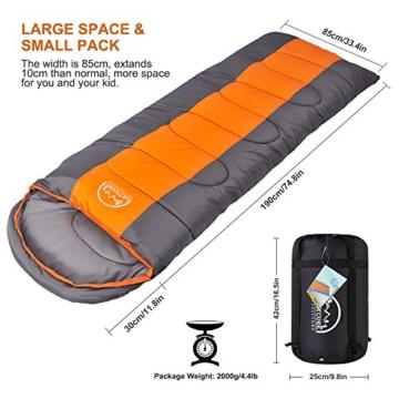 LATTCURE Outdoor Camping Deckenschlafsack Winter, Weich, Dick und Warm (Orange) - 5