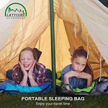 LATTCURE Outdoor Camping Deckenschlafsack Winter, Weich, Dick und Warm (Orange) - 8