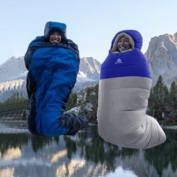 NatureFun Professionelle Ente runter 800g Füllung Mumienschlafsack, 3-4 Jahreszeiten Leicht & Wasserdicht für Backpacking Camping Outdoor Wandern Leichte Expeditionen mit Kompressions-Tragetasche - 6