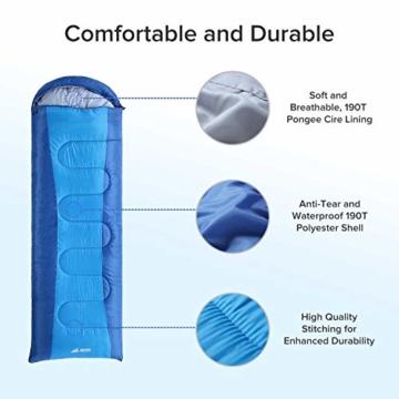 Semoo Schlafsäcke 210 x 75 cm, 3 Jahreszeiten Deckenschlafsäcke (von 10 bis 22 °C), Leichter wasserdichter Sommerschlafsack, für Outdoor Camping Wandern - 4