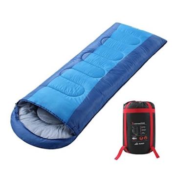 Semoo Schlafsäcke 210 x 75 cm, 3 Jahreszeiten Deckenschlafsäcke (von 10 bis 22 °C), Leichter wasserdichter Sommerschlafsack, für Outdoor Camping Wandern - 1