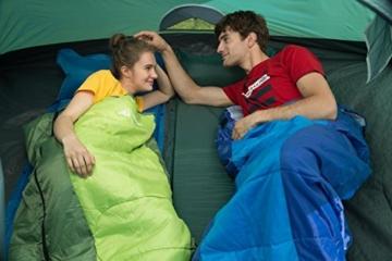 Semoo Schlafsäcke 210 x 75 cm, 3 Jahreszeiten Deckenschlafsäcke (von 10 bis 22 °C), Leichter wasserdichter Sommerschlafsack, für Outdoor Camping Wandern - 8