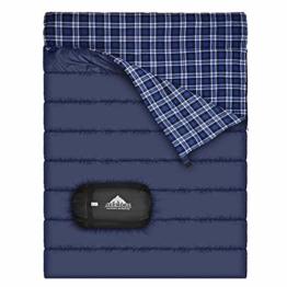 Baumwollflanell-Doppelschlafsack