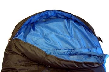 High Peak Mumien Schlafsack TR 300 Allround Trekking 4 Jahreszeiten Leicht -15°C RV Links - 6