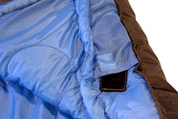 High Peak Mumien Schlafsack TR 300 Allround Trekking 4 Jahreszeiten Leicht -15°C RV Links - 8