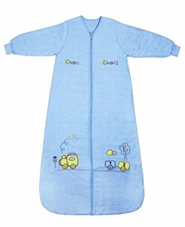 Schlummersack Kinderschlafsack mit Ärmeln für den Winter 3.5 Tog 130 cm