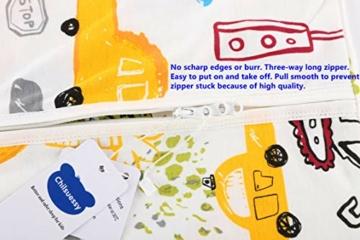 Chilsuessy Sommerschlafsack Baby Schlafsack Kleine Kinder Schlafanzug ohne Ärmel für Sommer und Frühling 100% Baumwolle (130/Baby Höhe 130-150cm, Cartoon Fahrzeug) - 3