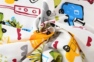 Chilsuessy Sommerschlafsack Baby Schlafsack Kleine Kinder Schlafanzug ohne Ärmel für Sommer und Frühling 100% Baumwolle (130/Baby Höhe 130-150cm, Cartoon Fahrzeug) - 6