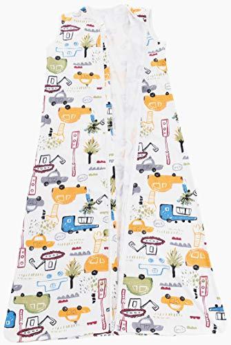Chilsuessy Sommerschlafsack Baby Schlafsack Kleine Kinder Schlafanzug ohne Ärmel für Sommer und Frühling 100% Baumwolle (130/Baby Höhe 130-150cm, Cartoon Fahrzeug) - 7