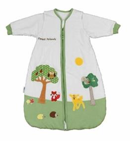 Schlummersack Babyschlafsack Vierjahreszeiten MIT ABNEHMBAREN Ärmeln in 2.5 Tog - Waldtiere - 90 cm / 6-18 Monate - 1