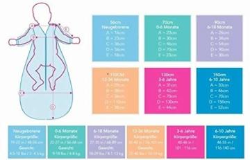 Schlummersack Ganzjahres Kinderschlafsack gefüttert in 2.5 Tog MIT ABNEHMBAREN Ärmeln - Waldtiere - 130 cm / 3-6 Jahre - 3