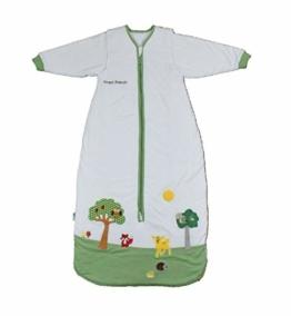Schlummersack Ganzjahres Kinderschlafsack gefüttert in 2.5 Tog MIT ABNEHMBAREN Ärmeln - Waldtiere - 130 cm / 3-6 Jahre - 1