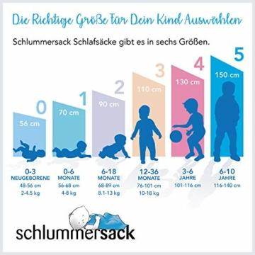 Schlummersack Kinder Winterschlafsack Langarm 3.5 Tog 130cm/3-6 Jahre - Pirat - 4