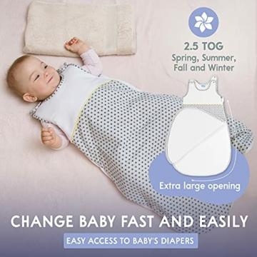 Sweety Fox - Schlafsack Baby Zertifizierte Baumwolle 100% Bio Oeko-TEX® - 2.5TOG - Unisex - 2