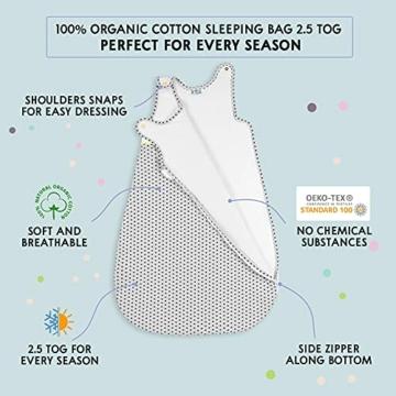 Sweety Fox - Schlafsack Baby Zertifizierte Baumwolle 100% Bio Oeko-TEX® - 2.5TOG - Unisex - 4