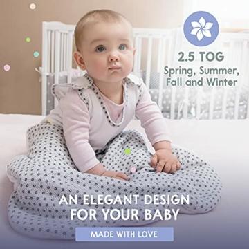 Sweety Fox - Schlafsack Baby Zertifizierte Baumwolle 100% Bio Oeko-TEX® - 2.5TOG - Unisex - 5